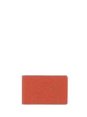 Визитница карманная FABULA. Цвет: рыжий