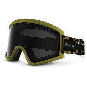 Маска для сноуборда  Cleaver Olive Camo/Blackout Von Zipper. Цвет: зеленый