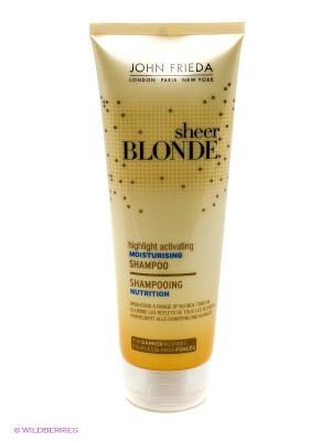 Увлажняющий активирующий шампунь для оттенков Темный блондин John Frieda. Цвет: желтый