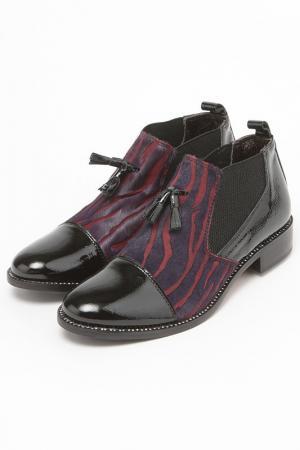 Ботинки Bouton. Цвет: черный, сиреневый, бордовый