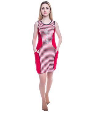 Ночная сорочка NICOLETTA. Цвет: красный
