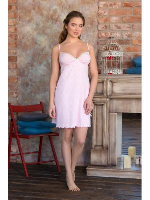 Ночные сорочки Mia Cara. Цвет: бледно-розовый, розовый