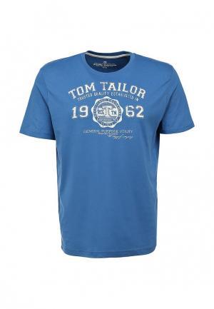 Футболка Tom Tailor. Цвет: синий