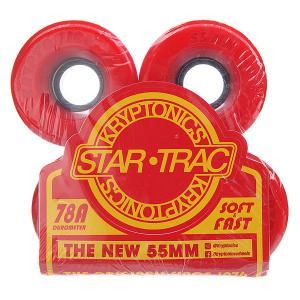 Колеса для скейтборда лонгборда  Star Trac Premium Red 78A 55 mm Kryptonics. Цвет: зеленый,красный