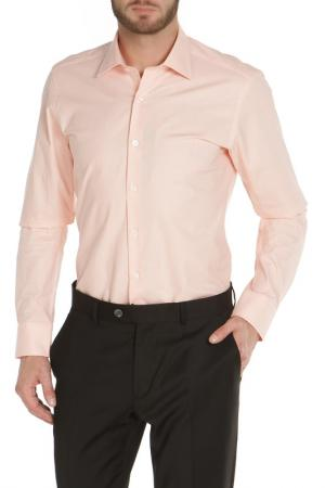 Полуприлегающая рубашка с застежкой на пуговицы The Savile Row. Цвет: персиковый