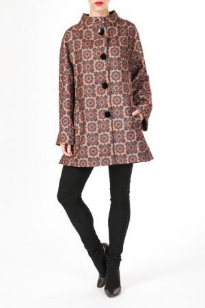 Пальто DONNA ENRICA. Цвет: коричневый