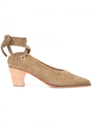 Туфли с завязками на щиколотке Rachel Comey. Цвет: зелёный