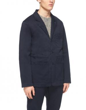 Хлопковый пиджак YMC. Цвет: синий