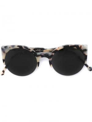 Солнцезащитные очки Lucia Puma Retrosuperfuture. Цвет: чёрный