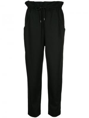 Прямые брюки на шнурке En Route. Цвет: чёрный