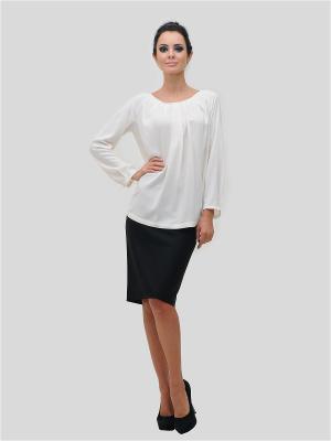 Блузка MAYAMODA. Цвет: белый, молочный, кремовый