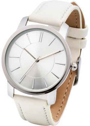 Часы на классическом браслете (бежевый) bonprix. Цвет: бежевый