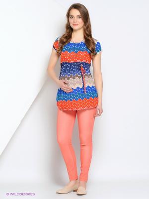 Блуза Gebbe. Цвет: коралловый