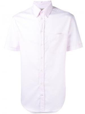 Классическая рубашка с короткими рукавами Armani Collezioni. Цвет: розовый и фиолетовый