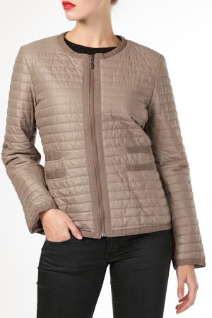 Куртка HDS. Цвет: бежевый
