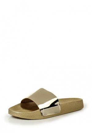 Шлепанцы Style Shoes. Цвет: золотой