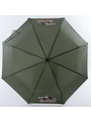 Зонт ArtRain. Цвет: хаки, серый