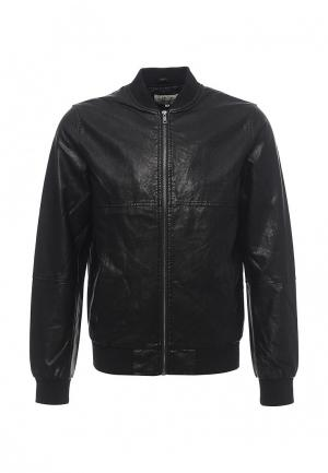 Куртка кожаная Celio. Цвет: черный