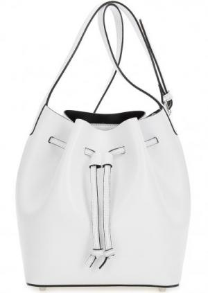 Сумка-торба с тонким плечевым ремнем Abro. Цвет: белый