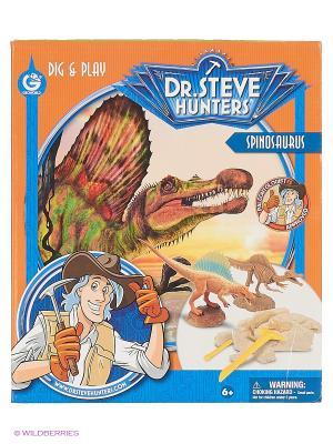 Набор для проведения раскопок с фигуркой Спинозавр серия Dr.Steve Hunters Geoworld. Цвет: коричневый, оранжевый, синий