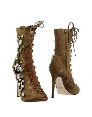 Полусапоги и высокие ботинки GEDEBE. Цвет: зеленый-милитари