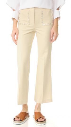 Расклешенные брюки EDUN. Цвет: белый