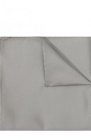 Шелковый платок Giorgio Armani. Цвет: серебряный