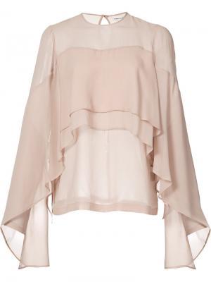 Расклешенная блузка Robert Rodriguez. Цвет: розовый и фиолетовый