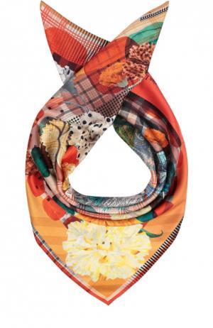 Шелковый платок с принтом Christian Lacroix. Цвет: оранжевый
