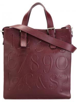 Плоская сумка-тоут Didot Assouline. Цвет: розовый и фиолетовый