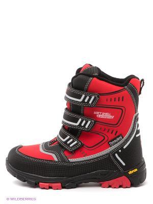 Ботинки Ascot. Цвет: красный, черный