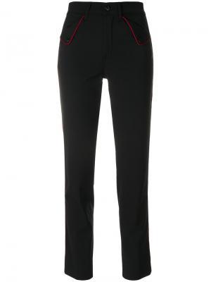 Укороченные брюки с завышенной талией The Seafarer. Цвет: чёрный