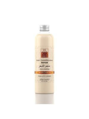 Кондиционер для восстановления поврежденных волос с маслом аргании и коллагеном MANDARIN MILLA HALAL COSMETICS. Цвет: оранжевый, белый
