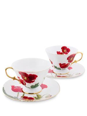 Чайный н-р на 2 перс. Фиор Дель Аморе (Pavone) Pavone. Цвет: белый