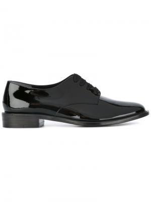 Туфли на шнуровке Robert Clergerie. Цвет: чёрный