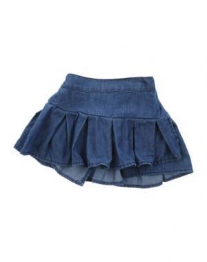 Джинсовая юбка LES PARROTINES. Цвет: синий