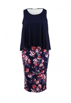 Платье Amplebox. Цвет: синий
