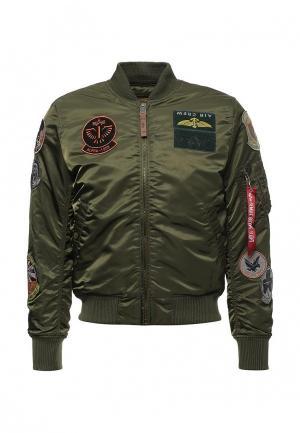 Куртка Alpha Industries. Цвет: хаки