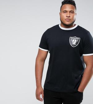 Majestic Футболка PLUS Raiders Ringer. Цвет: черный