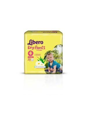 Libero Трусы детские одноразовые Драй Пэнтс макси 7-11кг 20шт упаковка стандартная. Цвет: желтый