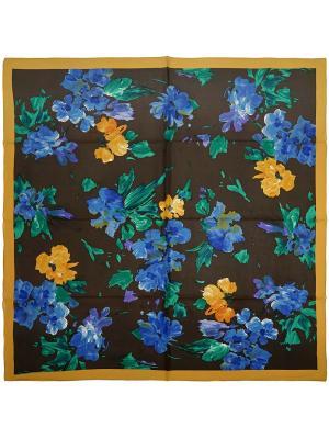 Платок Zalta. Цвет: коричневый, горчичный, зеленый, синий