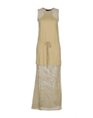 Длинное платье LOVE MOSCHINO. Цвет: зеленый-милитари