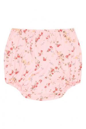 Розовые блумеры с цветочным принтом Bonpoint. Цвет: розовый