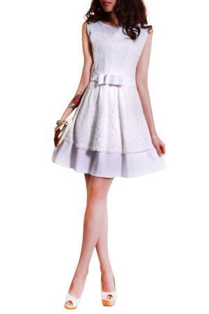 Платье FRANCESCA LUCINI. Цвет: белый, белое кружево