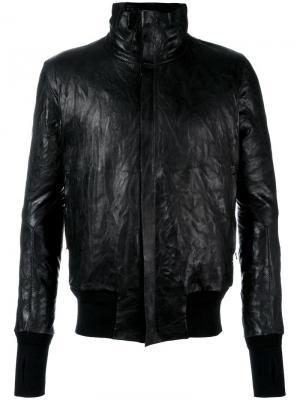 Кожаная куртка на молнии Isaac Sellam Experience. Цвет: чёрный