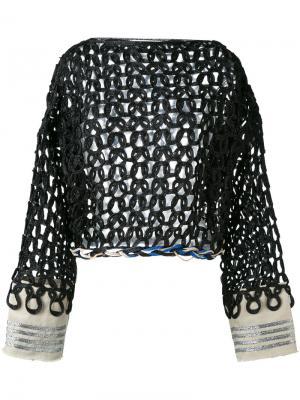 Open knit jumper Aviù. Цвет: чёрный