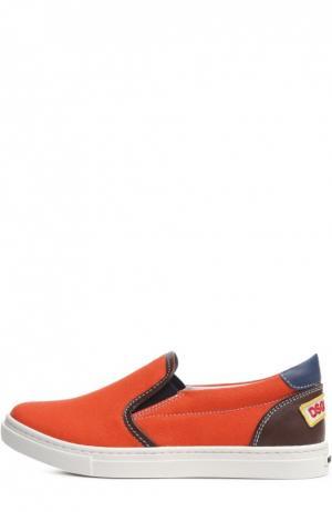 Туфли спортивные Dsquared2. Цвет: оранжевый