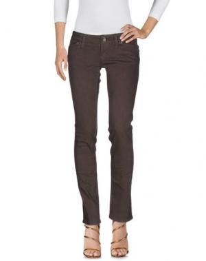 Джинсовые брюки 2W2M. Цвет: темно-коричневый