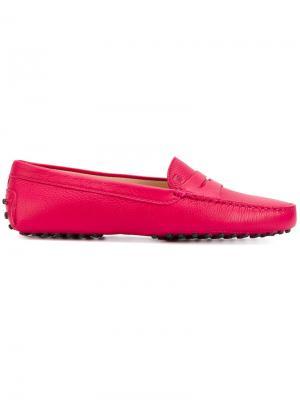 Лоферы Gommino Tods Tod's. Цвет: розовый и фиолетовый