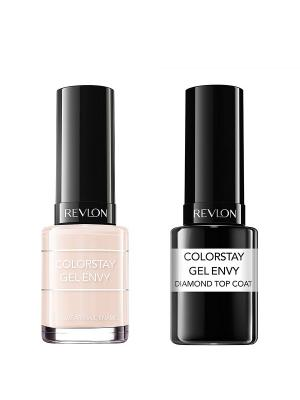 Revlon Набор: 003 гель-лак colorstay gel envy all or nothing 020 + верхнее покрытие  c. Цвет: бледно-розовый